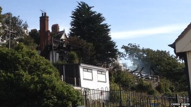 Alexandra Yacht Club, Southend, Essex after fire