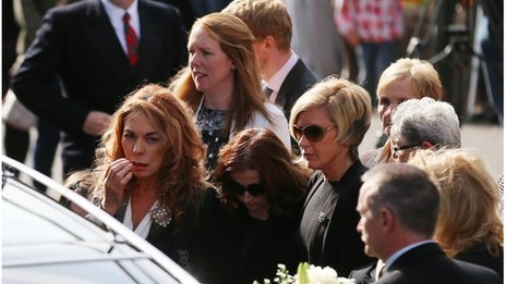 Mourners at the funeral of Gerry Anderson