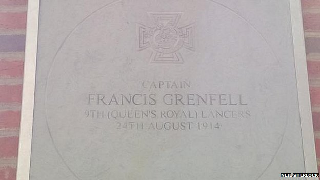 Francis Grenfell's commemorative paving slab