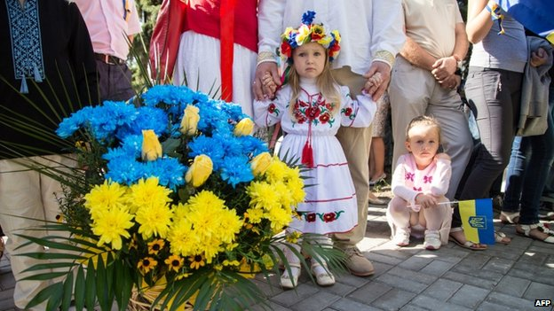 Little girl in Sloviansk (24 August 2014)