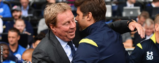 QPR boss Harry Redknapp and  Tottenham manager Mauricio Pochettino