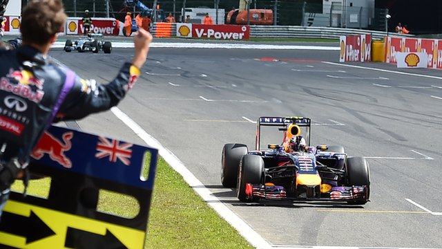 Daniel Ricciardo wins the Belgian Grand Prix