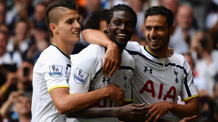 Tottenham's players celebrate