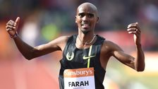 Mo Farah wins the two mile race in Birmingham