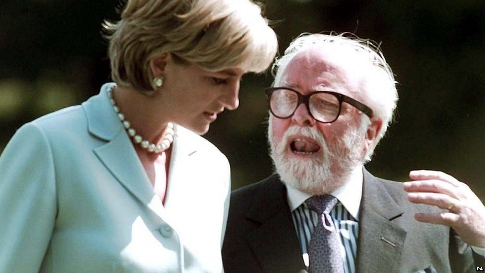 Lord Attenborough with Princess Diana