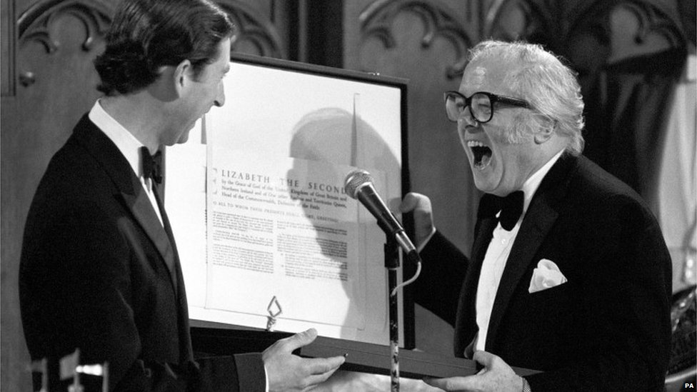 Lord Attenborough with Prince Charles