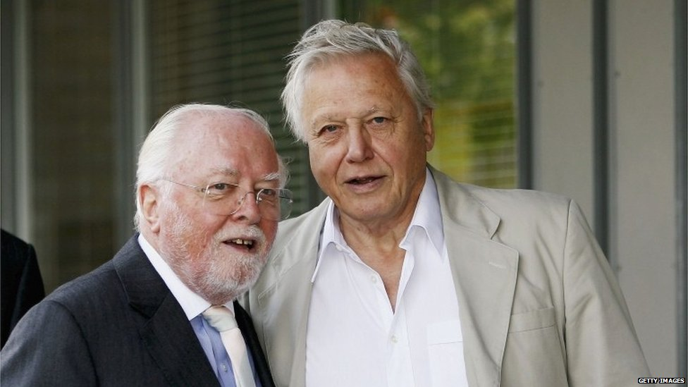 Lord Attenborough and Sir David Attenborough