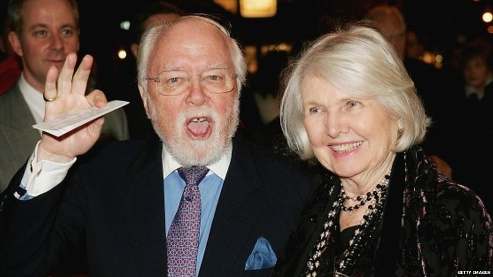 Lord Attenborough at the premiere of the Mary Poppins musical