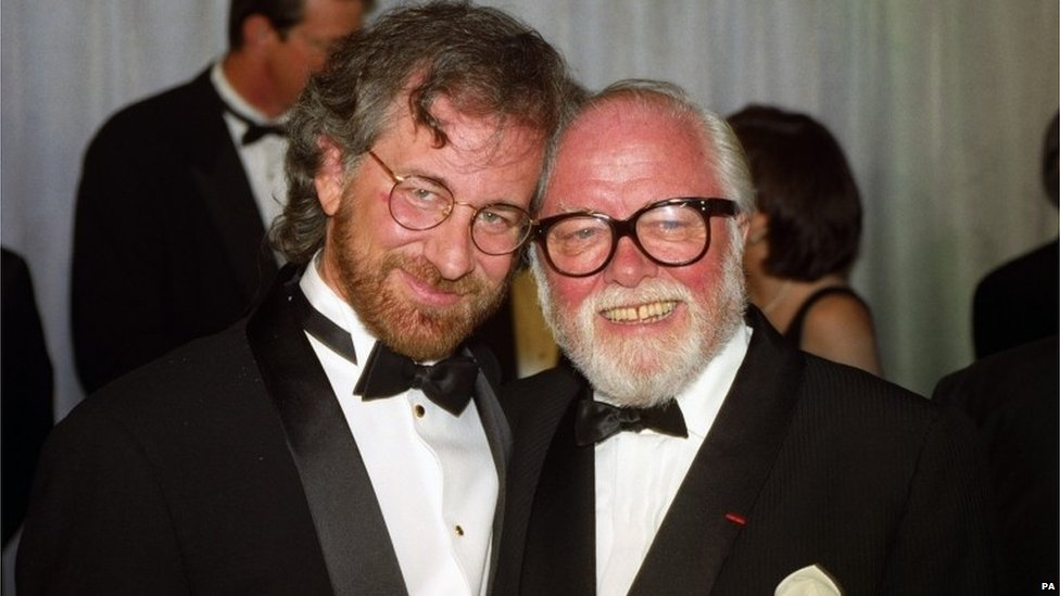 Lord Attenborough with Steven Spielberg
