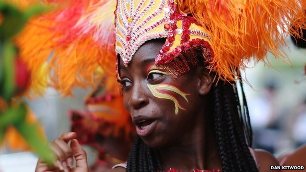 Dancer at Notting Hill carnival