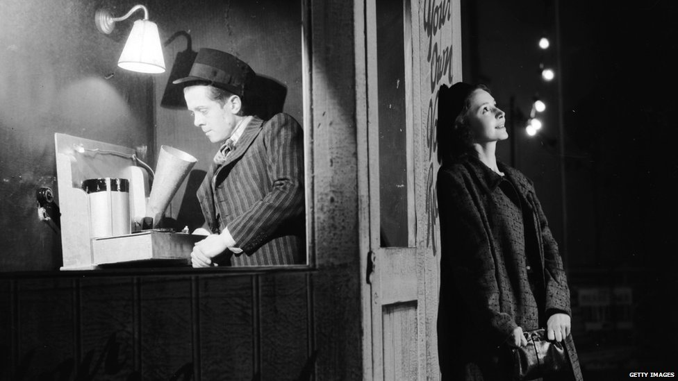 Lord Attenborough in the stage play Brighton Rock