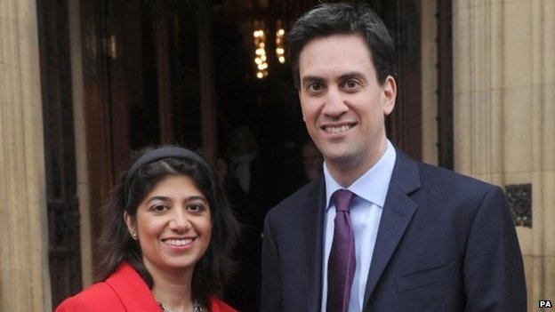 Seema Malhotra with Ed Miliband