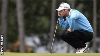 Bradley Dredge goes into the final day of the Czech Masters in the lead with Donaldson joint second