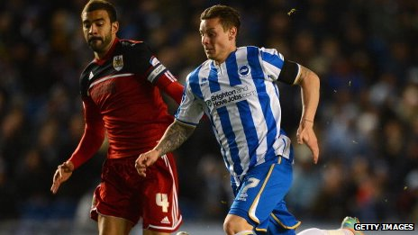 Will Hoskins in action for Brighton