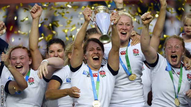 England's 15-a-side team won the Women's Rugby World Cup in Paris