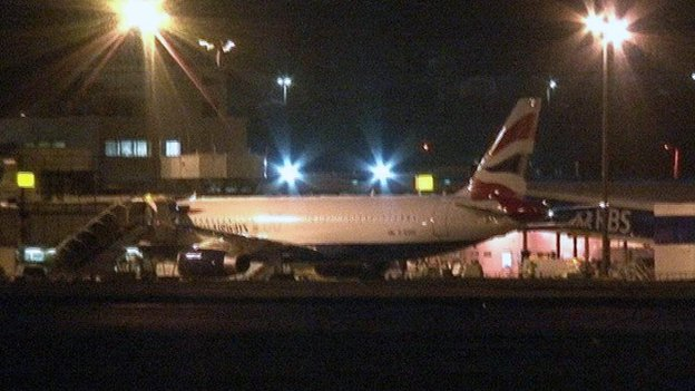Plane which was at centre of health checks