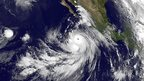 Satellite image shows Hurricane Marie in the eastern Pacific near Mexico on 24 August 2014
