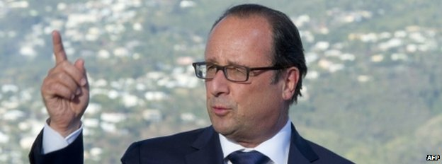 French President Francois Hollande (21 August)