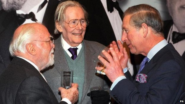 Lord Attenborough with Prince Charles and Peter O'Toole, in 2008