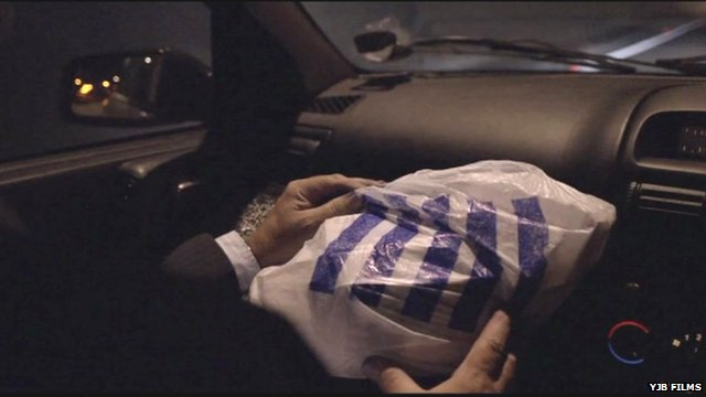 Car journey with carrier bag of cash - from the Swansea City football film Jack to a King