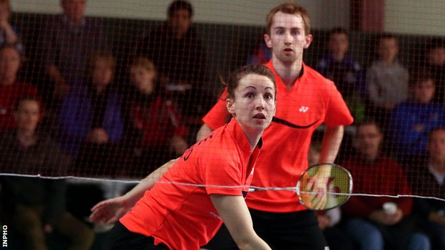 Chloe and Sam Magee lost in the mixed doubles at the World Badminton Championships