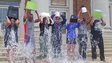 People dump ice water on their head