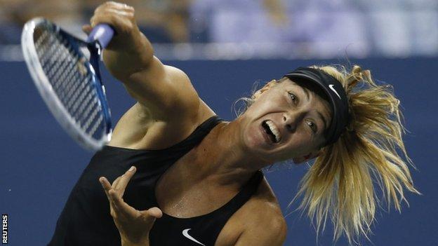 US Open 2014: Maria Sharapova sweeps into second round