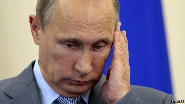 President Vladimir Putin on 15 Aug 2014