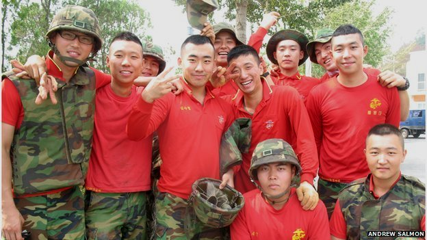 Picture of South Korean Marines on Yeongpyong island.