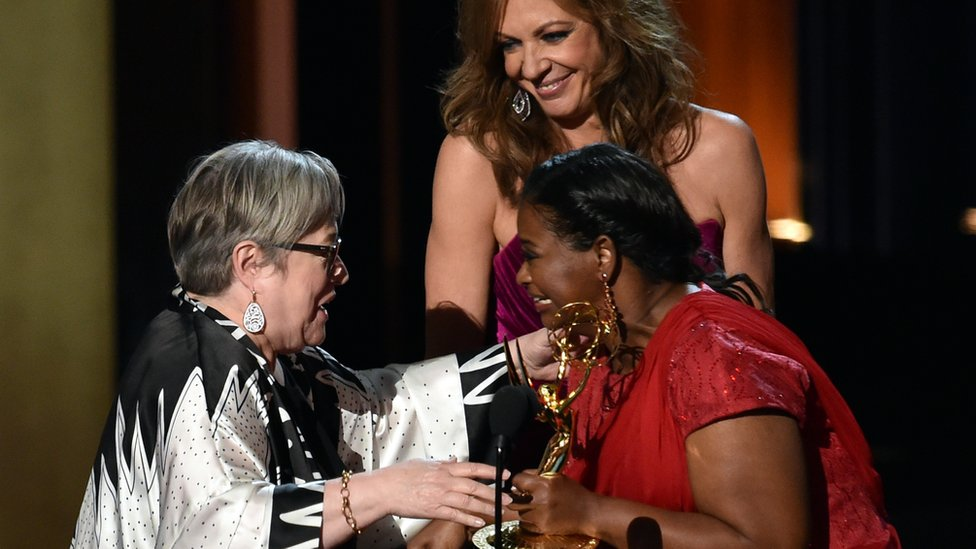 Kathy Bates (l) and Octavia Spencer