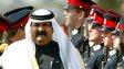 Hamad bin Khalifa Al-Thani, the Emir of Qatar until 2013, inspects soldiers at Sandhurst in 2004