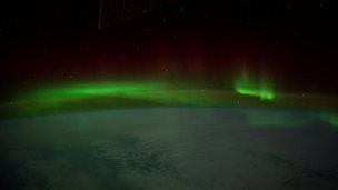 the Aurora australis filmed from space