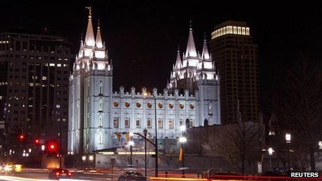 The Temple of the Church of Jesus Christ of Later-Day Saints, in Salt Lake City, Utah