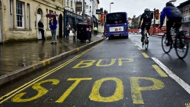 Bup stop sign in Bristol