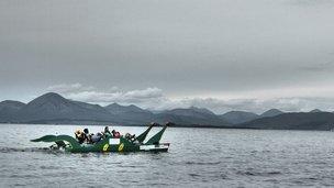 Loch Ness Monster-shaped pedalo