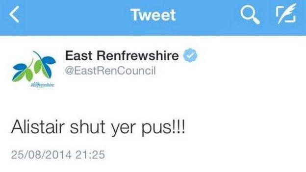 East Renfrewshire Council tweet