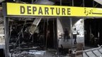 """A general view is seen of the passenger terminal of Tripoli international airport August 24, 2014. Unidentified war planes attacked targets in Libya""""s capital Tripoli on Sunday, residents said, hours after forces from the city of Misrata said they had seized the main airport"""