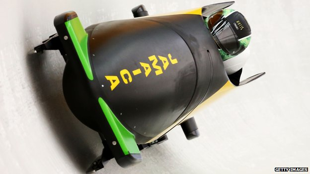 Jamaica's bobsleigh team at the 2014 Winter Olympics