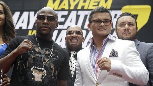 Floyd Mayweather and Marcos Maidana