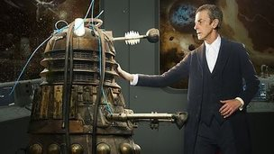 Dalek and Peter Capaldi as the Doctor in Doctor Who