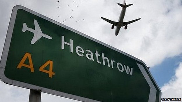 Road sign near Heathrow