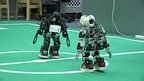 Robots playing football