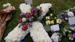 Floral tributes to Kris Cook
