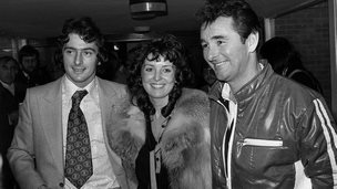 First million-pound man Trevor Francis, his wife Helen and Nottingham Forest manager Brian Clough