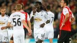 Bafetimbi Gomis celebrates his goal