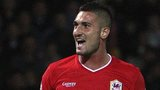 Striker Federico Macheda marked his Cardiff City competitive debut with a goal