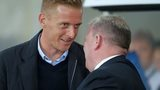 Garry Monk with Rotherham United manager Steve Evans