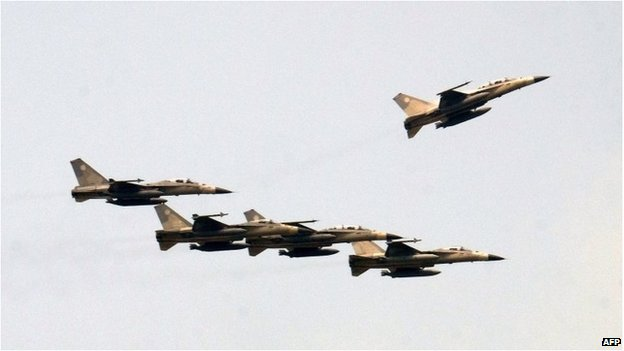 Taiwan's Indigenous Defence Fighters (IDF) fly in formation at Ching Chuan Kang Air Base (CCK) on 17 July 2014