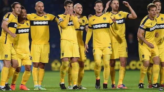Oxford United lose on penalties