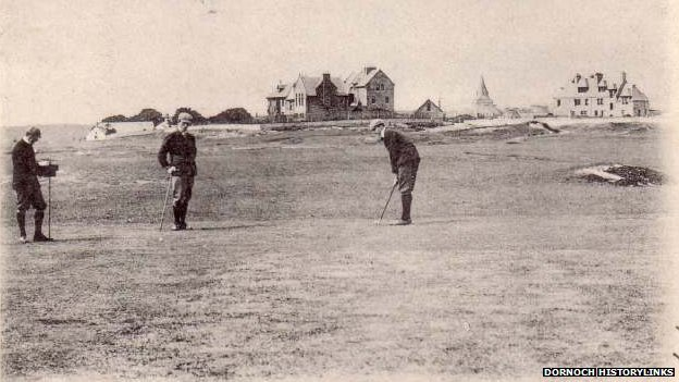 Golf was played in Dornoch centuries before an offical course was laid out
